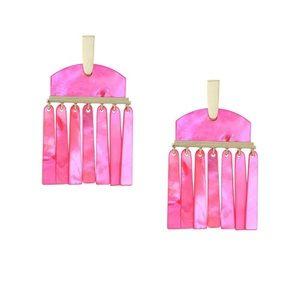 NWT Kendra Scott Layne earrings, Magenta MOP